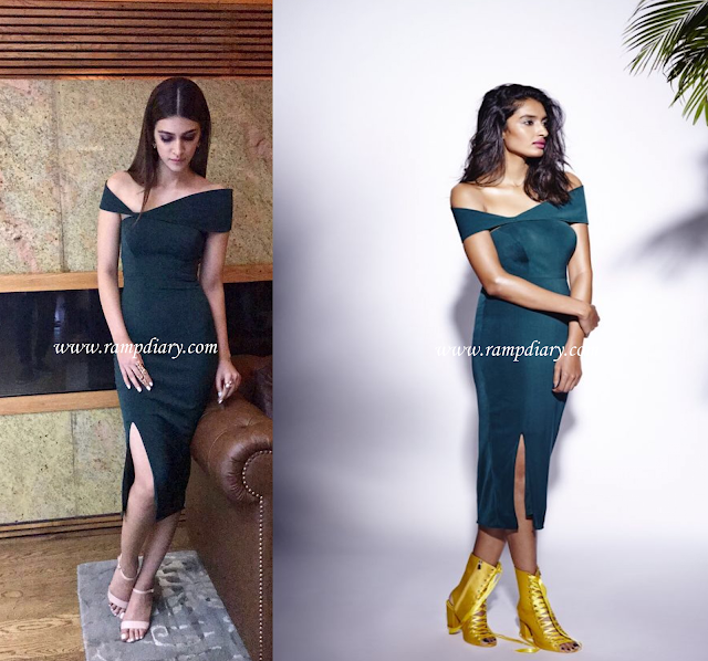Kriti Sanon Wearing a Rutu Neeva dress from their latest Fall '17 collection for the IIFA 2017 Press Conference