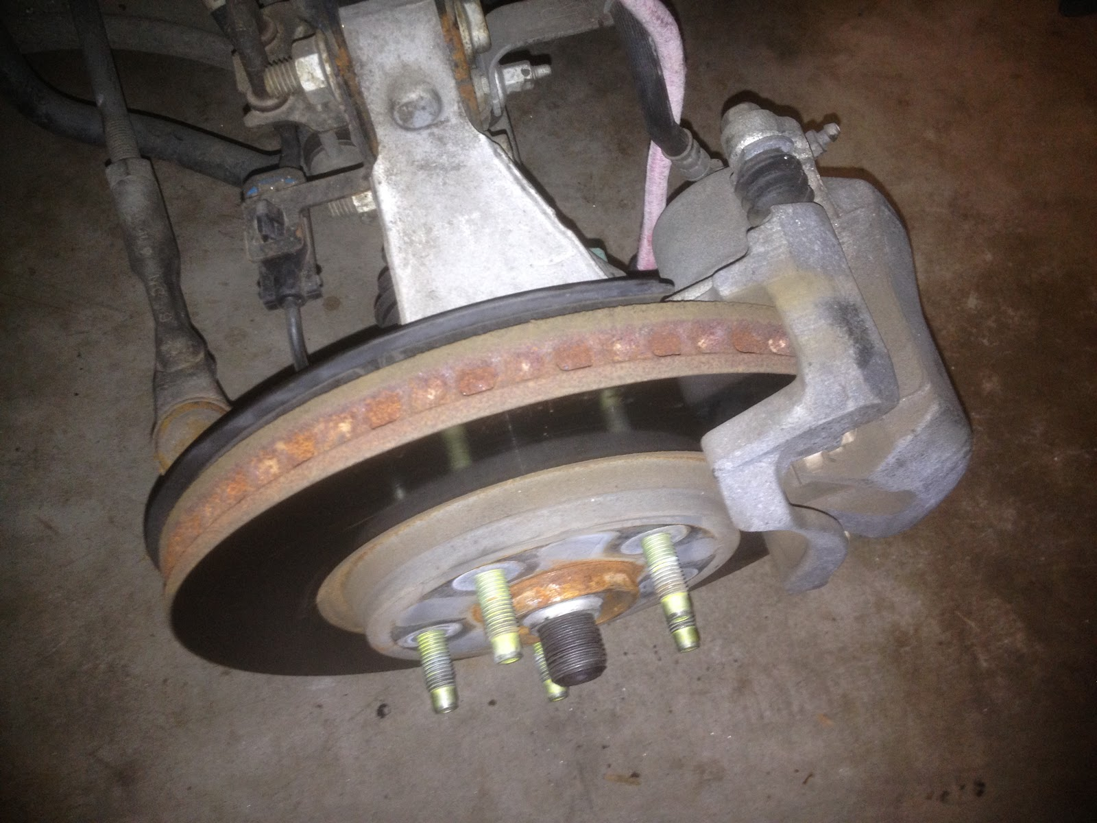 front brake job 2009 chevy malibu 2 4l [ 1600 x 1200 Pixel ]