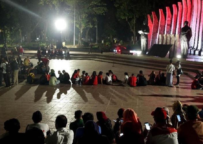 Relawan Projo bubarkan diri dari Tugu Proklamasi
