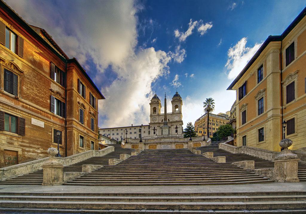 Испанская лестница (площадь Испании) в Риме