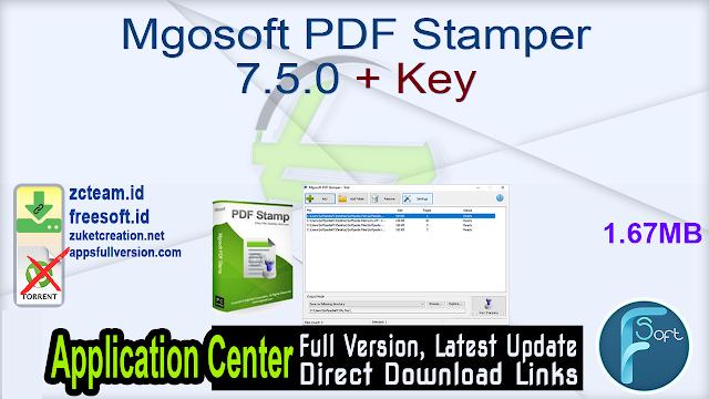 Mgosoft PDF Stamper 7.5.0 + Key