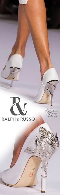 Ralph & Russo white Eden Eve pump #brilliantluxury