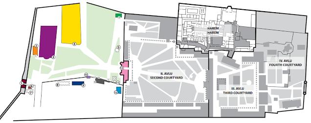 Mapa del Palacio Topkapi Oficina Turismo