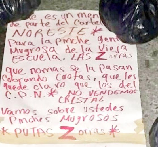 En Monterrey; Cartel del Noreste de los Zetas dejan a descuartizados de los Zetas y prácticamente dicen que ellos no extorsionan
