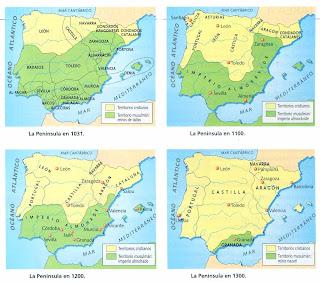 Resultado de imagen de reinos cristianos peninsulares