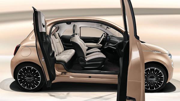 Fiat Novo 500 3+1 elétrico ganha versão de 3 portas - Europa