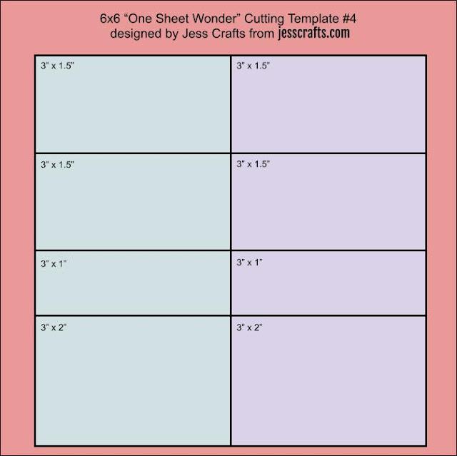 6x6 One Sheet Wonder Cutting Template #4 by Jess Crafts