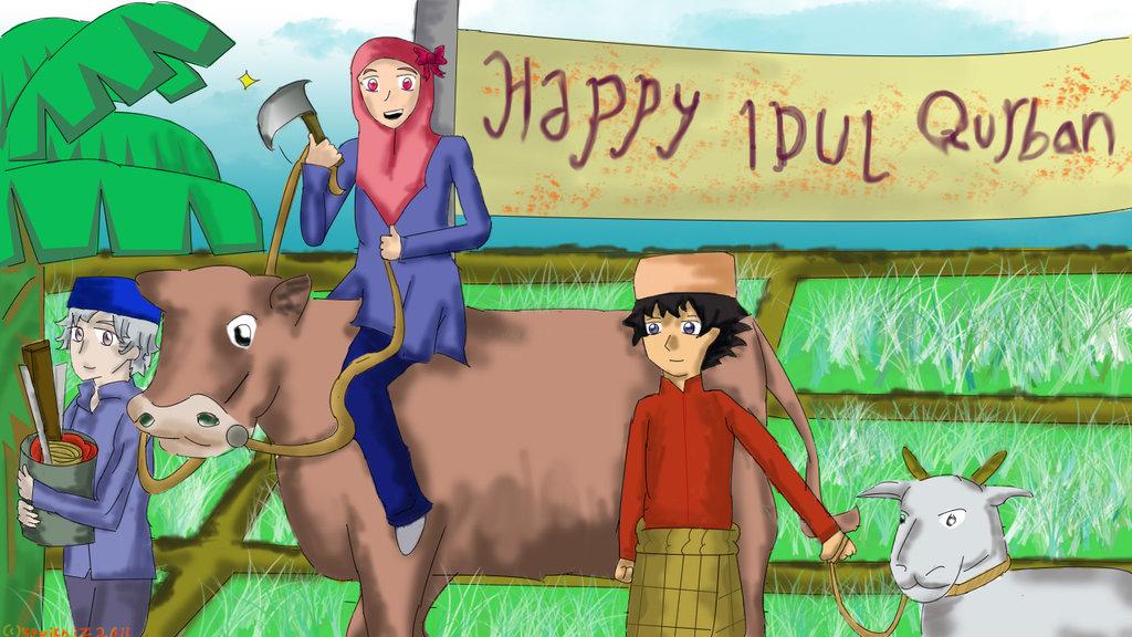 Download 560  Gambar Animasi Penyembelihan Hewan Qurban HD Terbaru