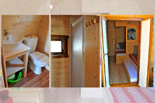 Case in legno Megapod con doccia