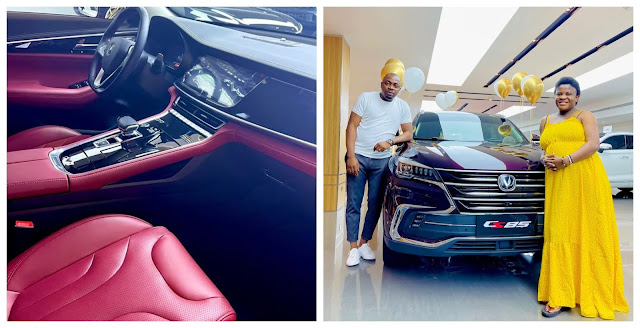 Therapist, Angela Nwosu, receives a brand new SUV from her husband as push present (Video)