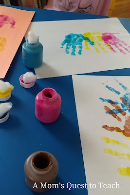 handprints in various colors