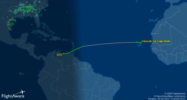 Avión ruso viaja de Venezuela a Cabo Verde para intentar rescatar a Áex Saab
