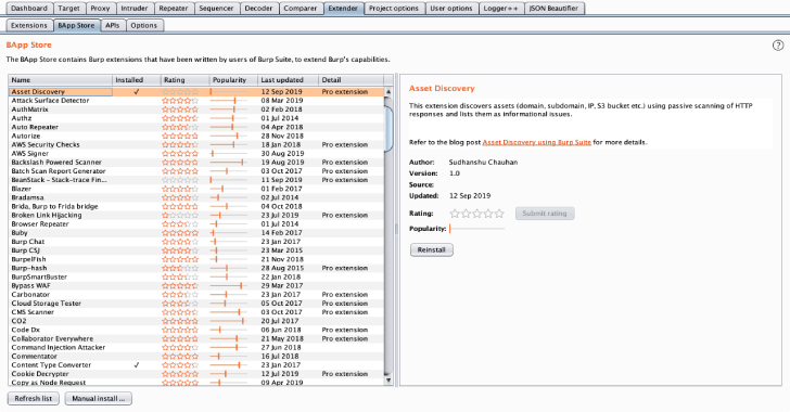 Asset Discover : Burp Suite Extension to Discover Assets From HTTP Response