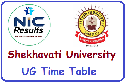 PDUSU Shekhavati University Time Table