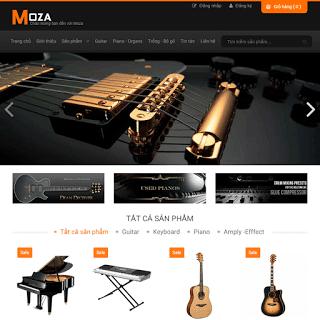 template blogspot bán hàng guitar