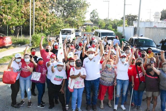 """""""Panchito"""" Torres agradece el respaldo del oriente y sur Mérida"""