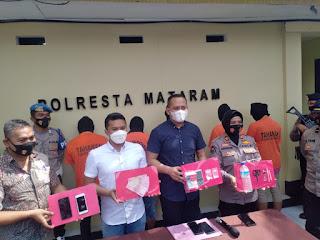 Polresta Mataram Amankan 5 pelaku Narkotika, 2 Diantaranya Ibu dan Anak Kandung
