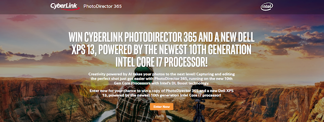 Intel and Cyberlink are giving you a chance to enter daily to win a brand new Dell computer along with a copy of PhotoDirector 365 worth almost $2500!