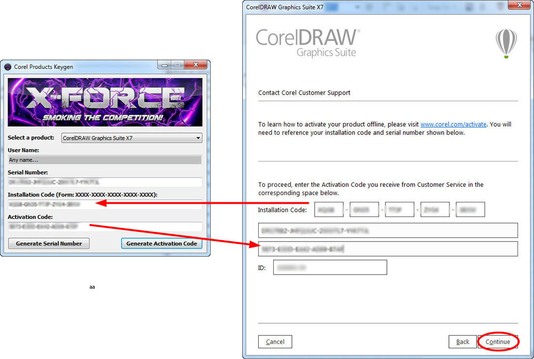 activation code corel x5