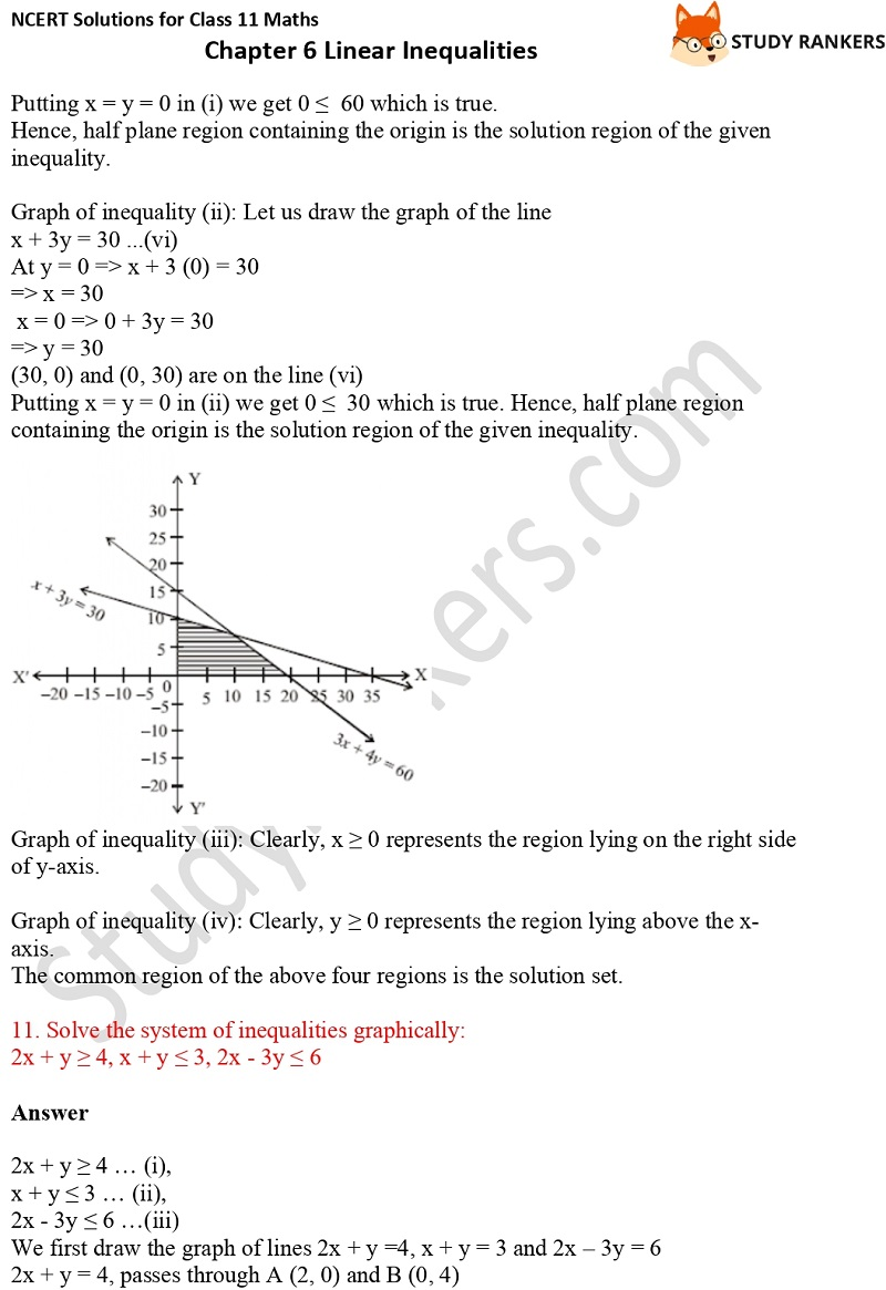NCERT Solutions for Class 11 Maths Chapter 6 Linear Inequalities 26