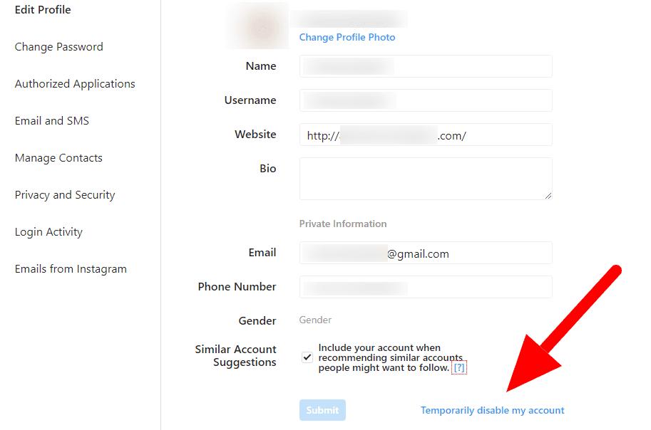 طريقة حذف حساب انستقرام مؤقتا ؟
