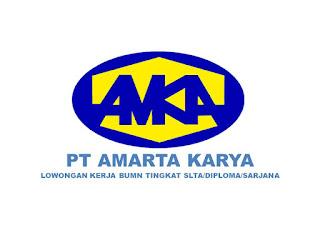 Lowongan Kerja SMK/SMA/D3/S1 BUMN PT Amarta Karya Rekrutment Karyawan Baru Seluruh Indonesia
