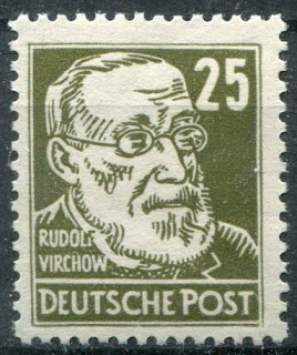 Germany 1948 SBZ Famous People Köpfe - Rudolf Virchow