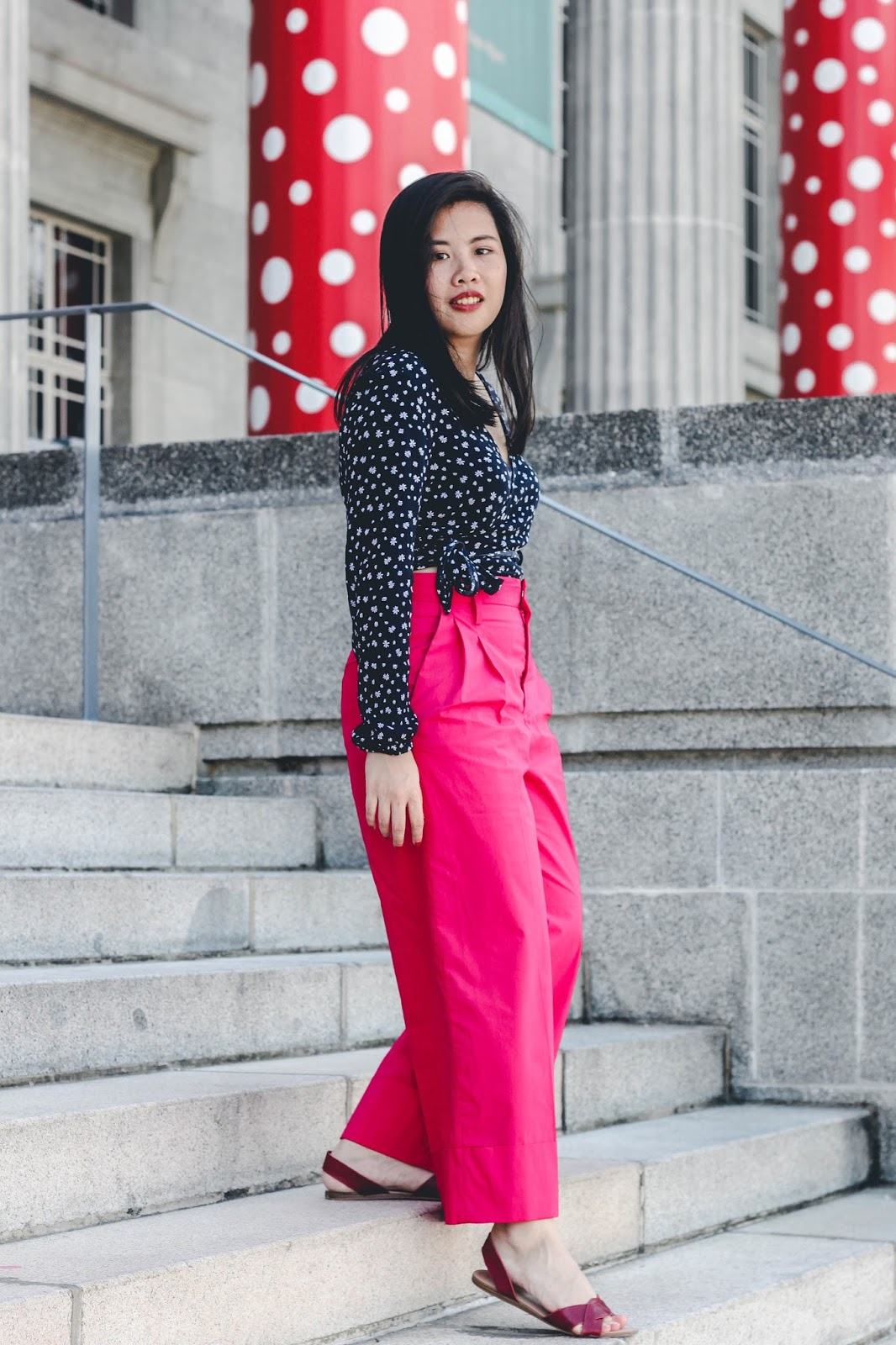singapore blogger photographer look book style outfit stylist street photograph wiwt ootd stylexstyle pink fuchsia red