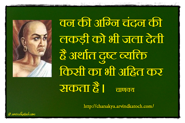 Chanakya, Chanakya Niti, Sandalwood, Forest, Fire, Wicked Person,