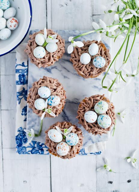 cupcakes ptasie gniazdko