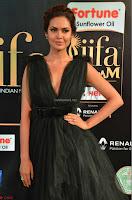 Esha Gupta in a Deep Neck Sleeveless Dark Green Gown at IIFA Utsavam Awards 2017     23.JPG