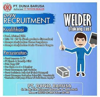 Lowongan Kerja Aceh PT Dunia Barusa Banda Aceh