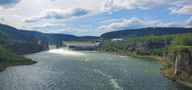 View of a Dam from Hudson's Hope Bridge Peace River