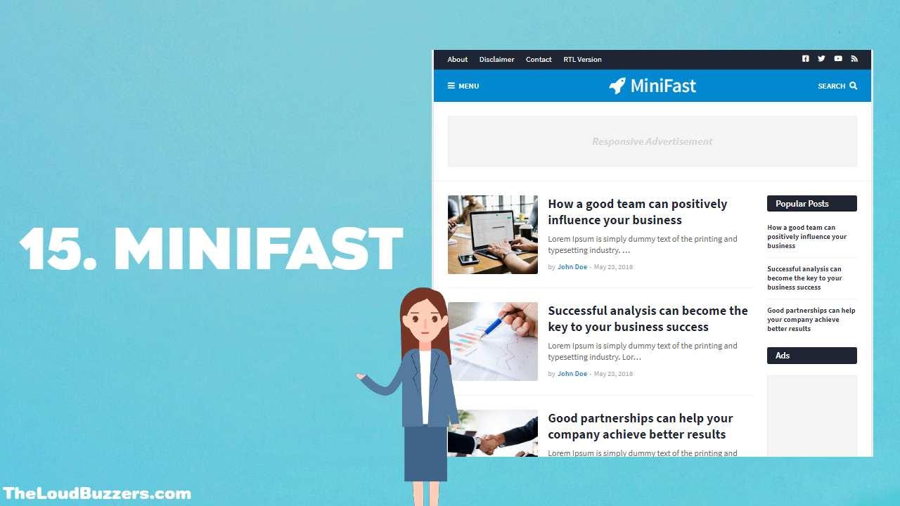 Mini Fast Blogger Template