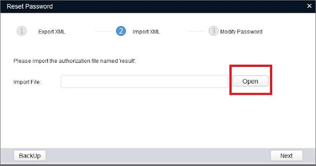 Cara reset password IP camera dahua