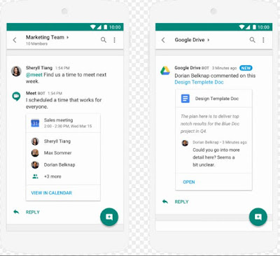 Hangouts Chat, Google's Slack Alternative, is now available in G Suite