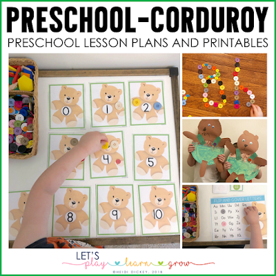 Corduroy Unit Plans and Printables for Preschool