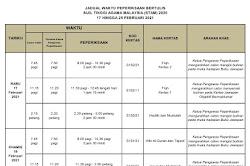 Jadual Waktu Peperiksaan STAM 2020