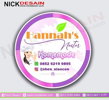 Contoh Desain Logo Olshop ungu Pink dan Cetak Stiker Label - Percetakan Tanjungbalai