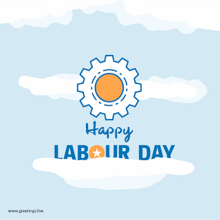 happy Labour day greetings wishes card image.