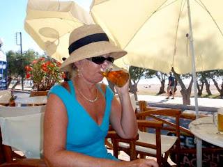 Pat 1st Beer Paros Greece