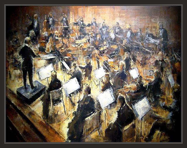VIENA-PINTURA-ARTE-ORQUESTA-FILARMONICA-CONCIERTOS-MUSICA-MUSICOS-INTERPRETES-PINTURAS-ARTISTA-PINTOR-ERNEST DESCALS