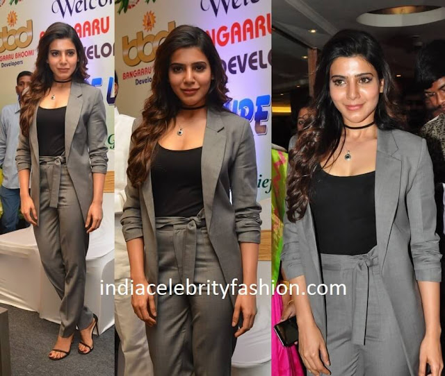 Samantha Ruth Prabhu in Two Piece Suit