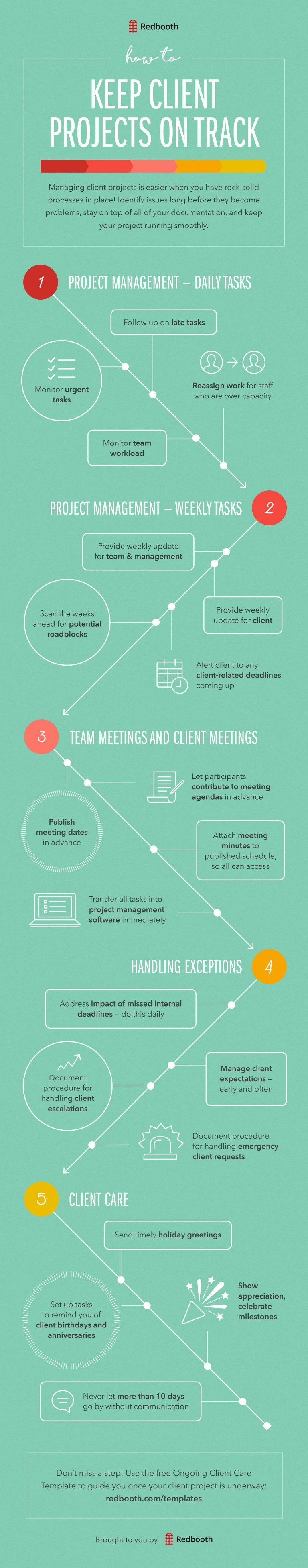 How to Keep Client Projects on Track #infographic