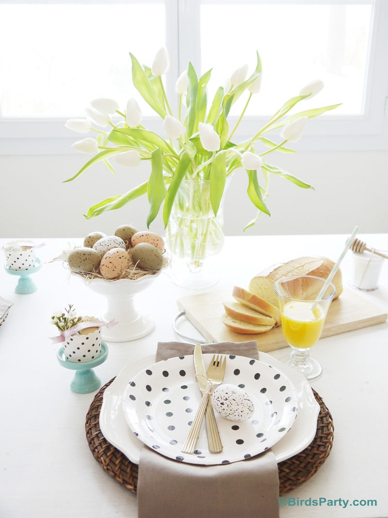 Our Easter Brunch Tablescape Party Ideas Party Printables