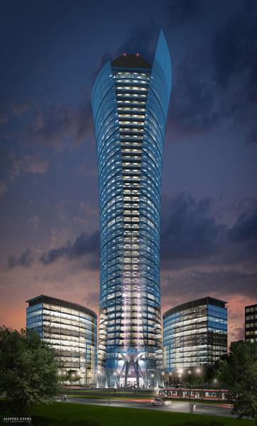 The Skyscraper Architecture Warsaw Spire