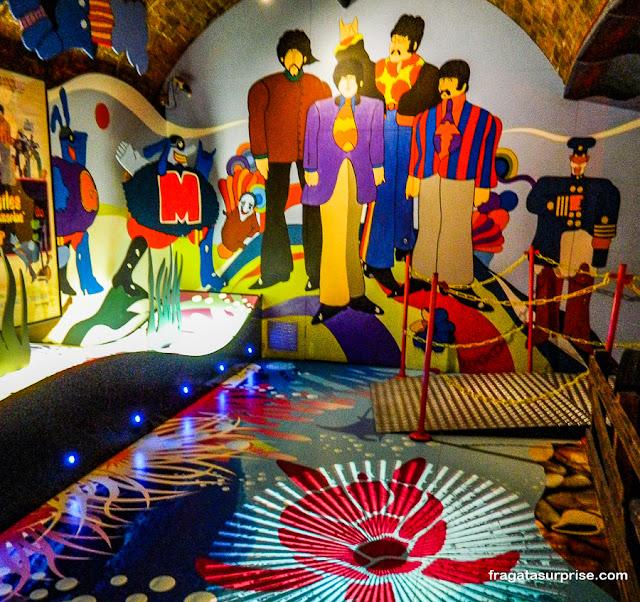 Yellow Submarine no museu The Beatles Story, Liverpool