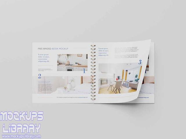 square binded brochure mockup 1