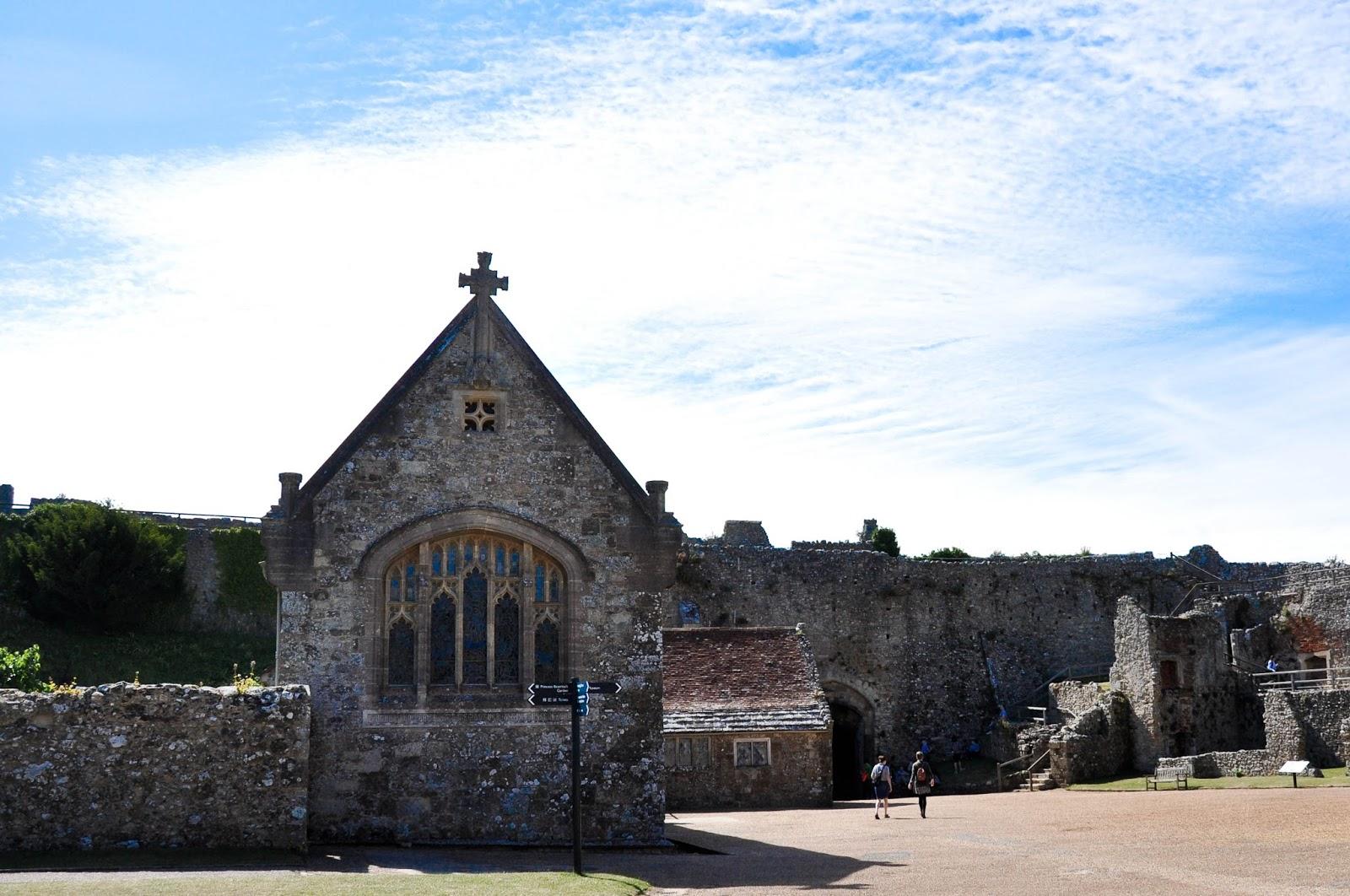 Inside the castle walls, Carisbrook Castle, Isle of Wight, UK-2