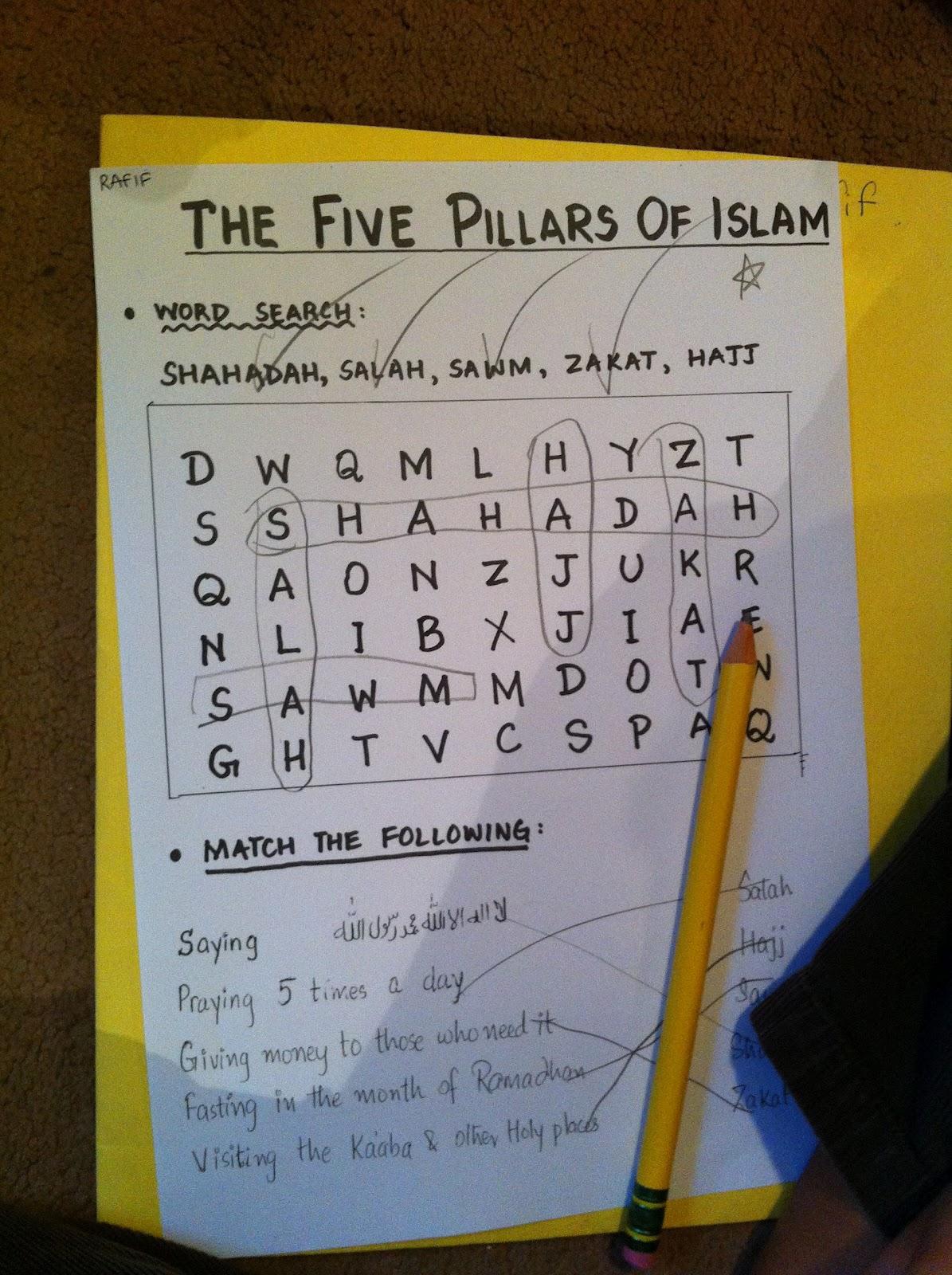 Islamic Education For Kids Kids Class Pillars Of Islam